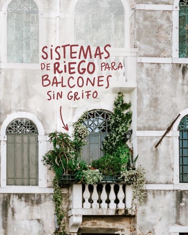 riego para balcón sin grifo