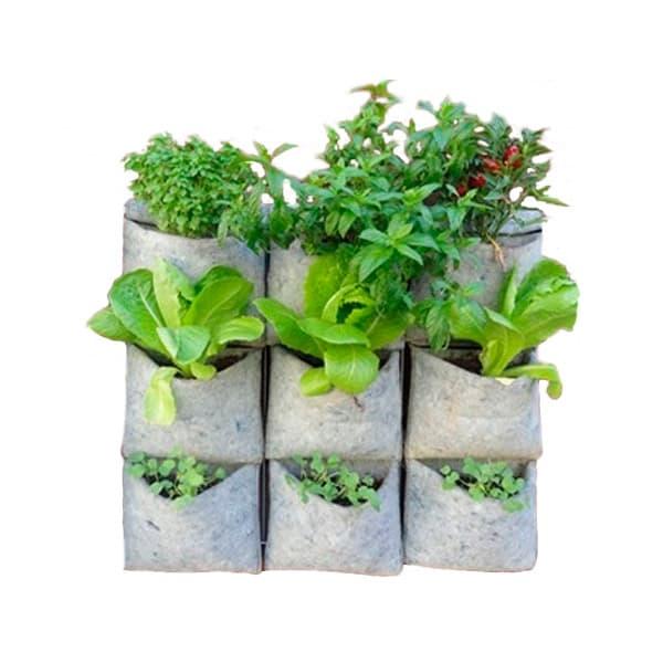 Jard n vertical vertiflor para 9 plantas plantea en verde for Reja para jardin vertical