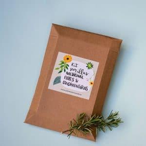 kit de siembra de aromáticas y medicinales